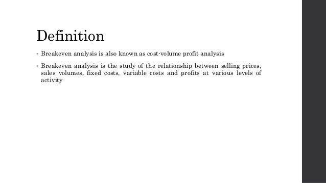 Definition U2022 Breakeven Analysis ...  Define Breakeven Analysis