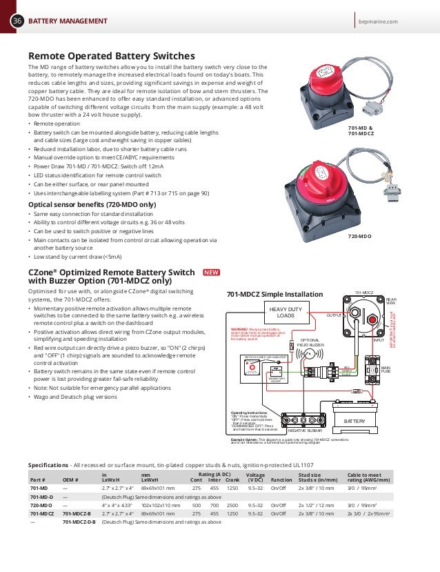 bep marine battery switch wiring diagram   40 wiring