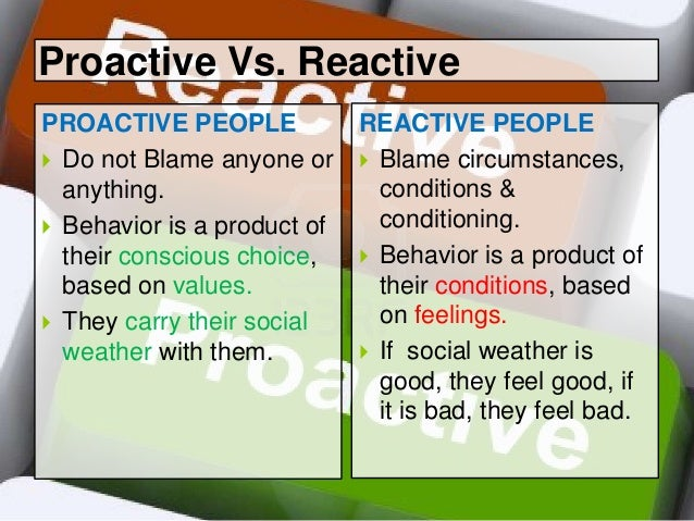 reactive vs proactive Distinguishing between proactive & predictive metrics will improve process maturity 3 figure 2: proactive zone vs predictive zone proactive predictive reactive.