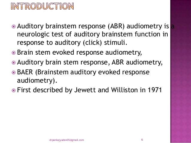 (PDF) Brain stem evoked response audiometry A Review