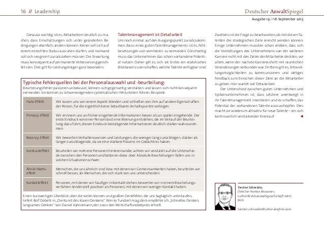 Genauso wichtig ist es, Mitarbeitern deutlich zu ma- chen, dass Einschätzungen sich unter geänderten Be- dingungen ebenfal...