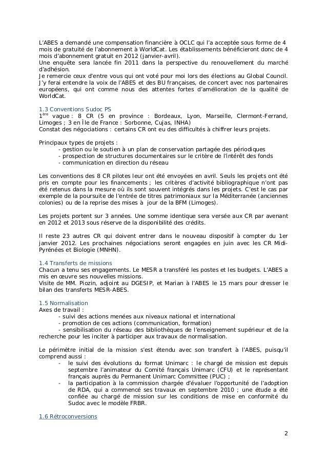 """Jabes 2011 - Session plénière """"ABES 2015"""" Version longue Slide 2"""