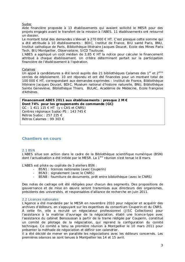 """Jabes 2011 - Session plénière """"ABES 2015"""" Version longue Slide 3"""