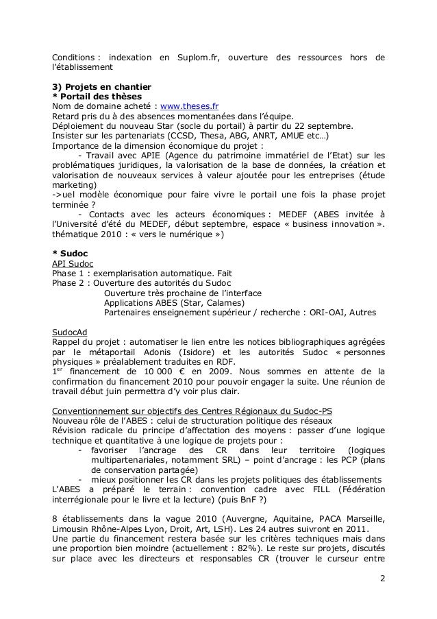 """Jabes 2010 - Session plénière """" Bilan et projets de l'Abes"""" Slide 2"""