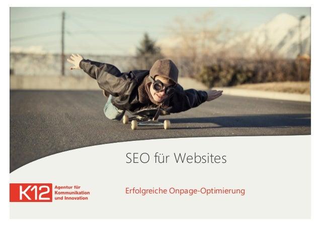 SEO für Websites Erfolgreiche Onpage-Optimierung