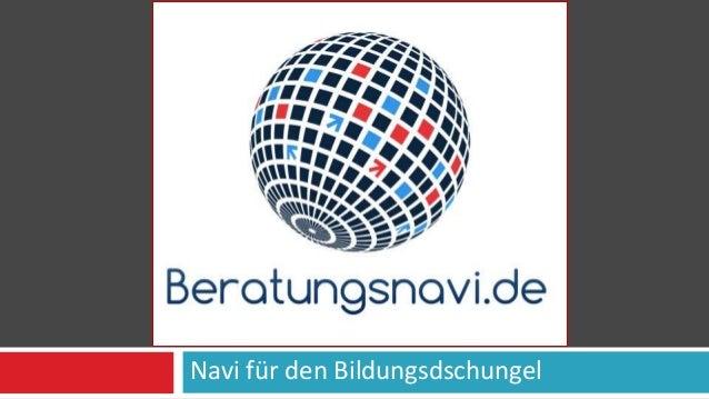 Navi für den Bildungsdschungel BERATUNGSNAVI.DE