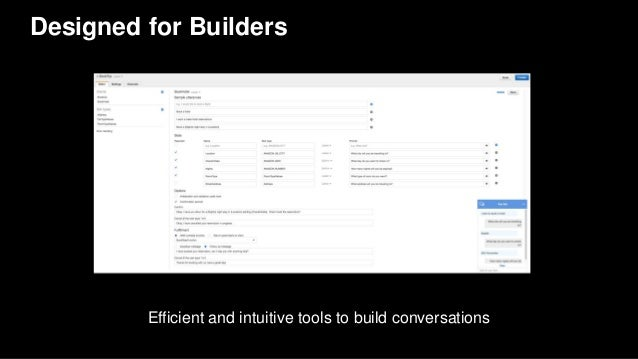 Designed for Builders Efficient and intuitive tools to build conversations