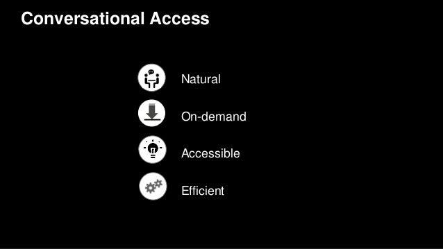 Conversational Access On-demand Accessible Efficient Natural