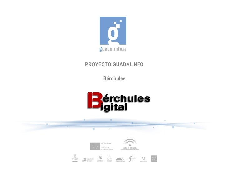 PROYECTO GUADALINFO     Bérchules