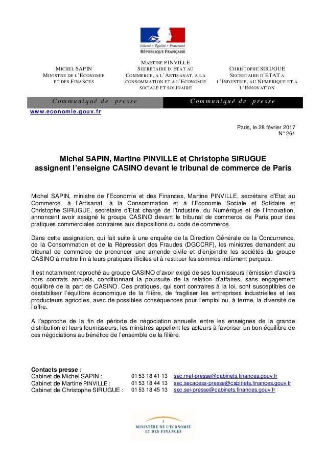 MICHEL SAPIN MINISTRE DE L'ECONOMIE ET DES FINANCES MARTINE PINVILLE SECRETAIRE D'ETAT AU COMMERCE, A L'ARTISANAT, A LA CO...