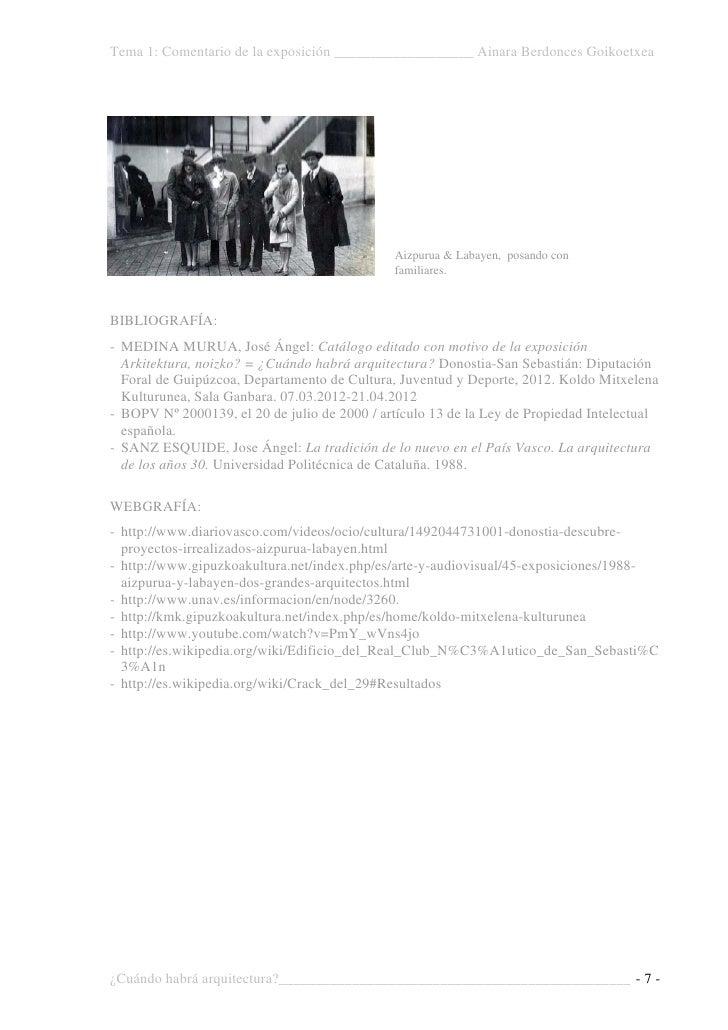 Berdonces goicoechea ainara tema 1 exposici n copia for Escuela arquitectura donostia