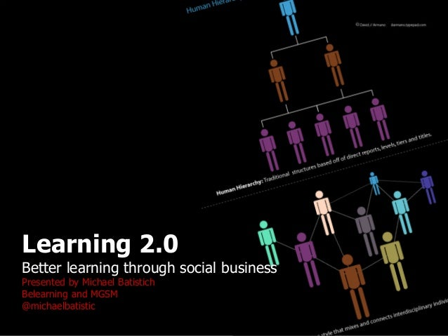 1 Learning 2.0 Better learning through social business Presented by Michael Batistich Belearning and MGSM @michaelbatistic