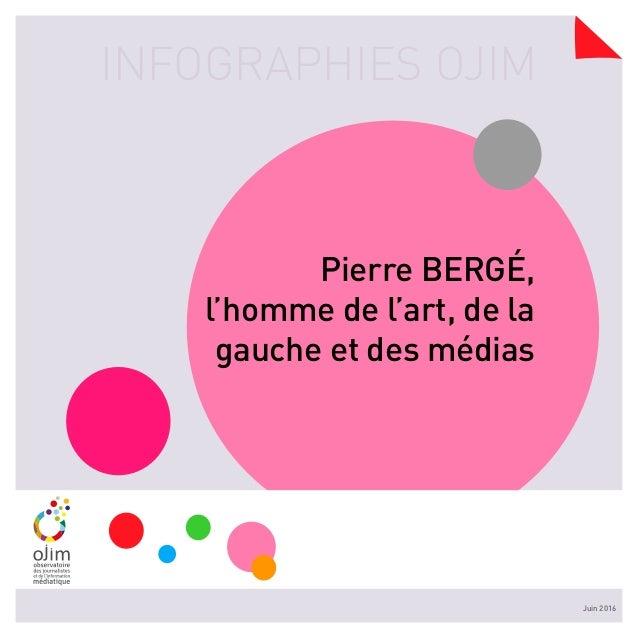INFOGRAPHIES OJIM Juin 2016 Pierre BERGé, l'homme de l'art, de la gauche et des médias