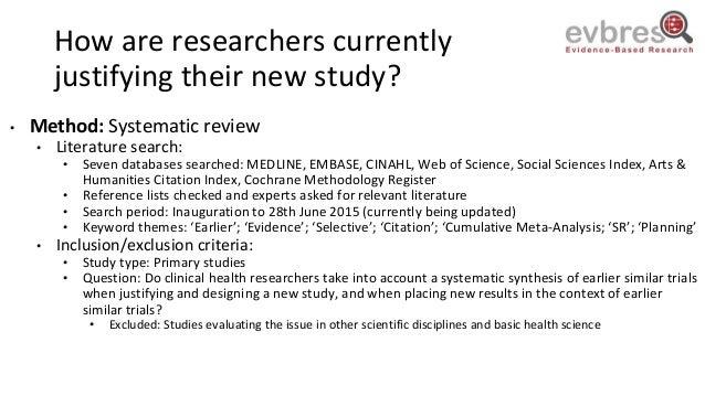 Klara Brunnhuber: Research Waste when Justifying New Research Slide 3