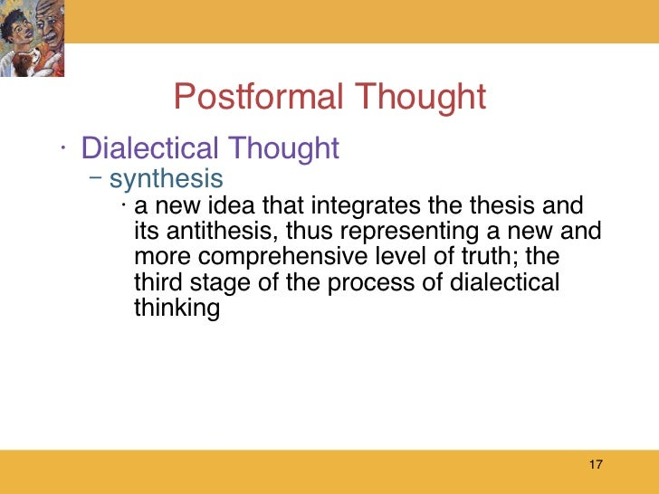hegelian thesis and antithesis This thesis-antithesis-synthesis theory was actually kant's dialectic principle as per hegel, in any initial thesis, there is too much abstraction.
