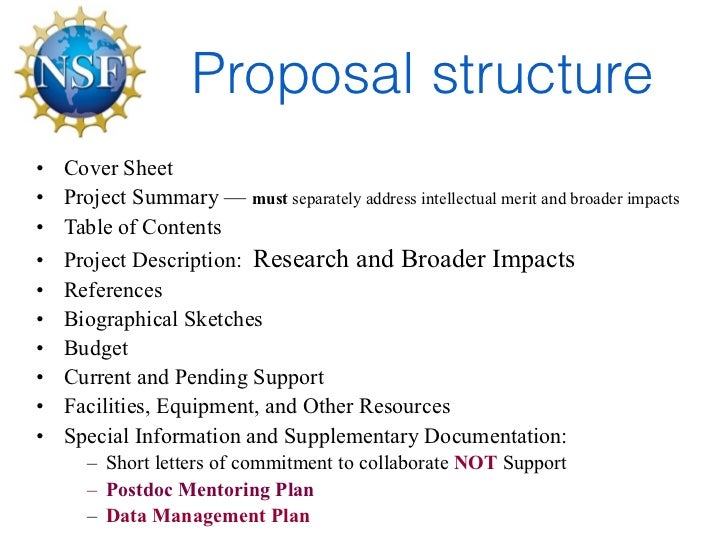 nsf research proposal example Keep in mind that the grfp application is not an nsf grant proposal the grfp seeks to identify individuals with outstanding potential as future stem research leaders the most effective reference letters speak to the applicant's potential for future achievement in graduate school and beyond.