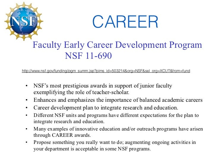 NSF proposal writing