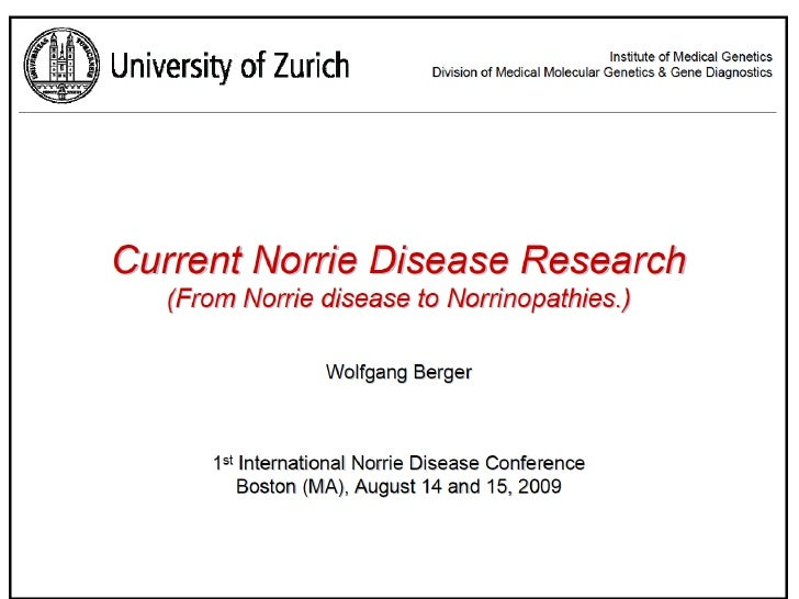 Current Norrie Disease Research