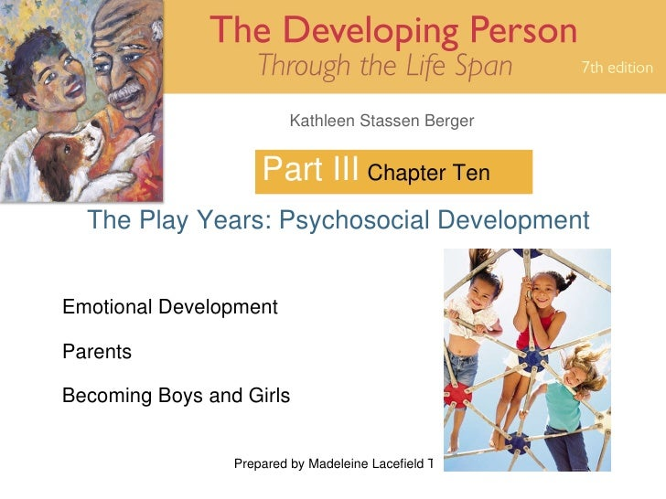 Part III The Play Years: Psychosocial Development Chapter Ten Emotional Development Parents Becoming Boys and Girls