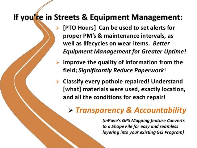 If you're in Streets & Equipment Management:  [PTO Hours] Can be used to set alerts for proper PM's & maintenance interva...