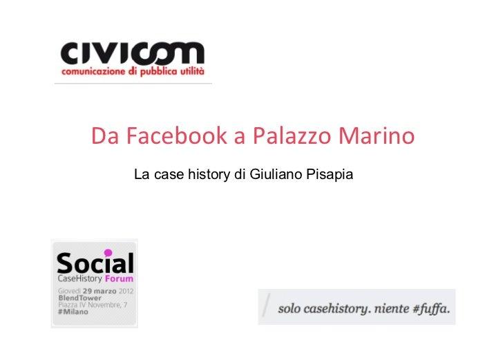 DaFacebookaPalazzoMarino   La case history di Giuliano Pisapia