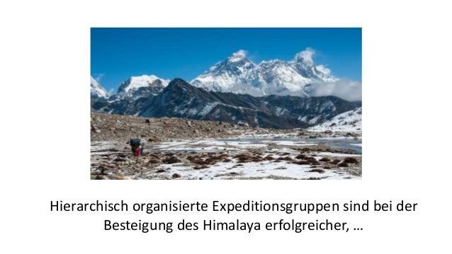Hierarchisch organisierte Expeditionsgruppen sind bei der Besteigung des Himalaya erfolgreicher, …