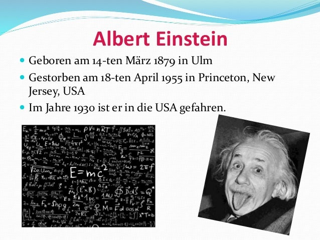 Albert Einstein Geboren
