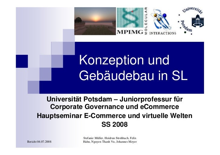 Konzeption und                      Gebäudebau in SL          Universität Potsdam – Juniorprofessur für           Corporat...