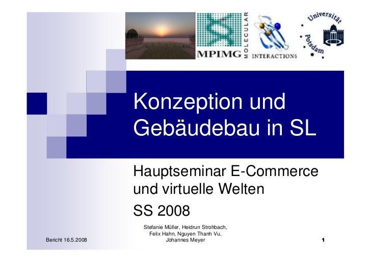 Konzeption und                     Gebäudebau in SL                     Hauptseminar E-Commerce                     und vi...