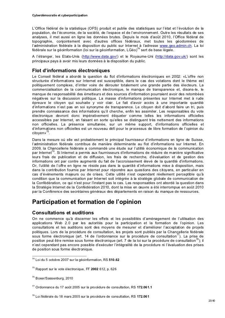 Bericht e demokratie 5 fr - Office federal de l environnement ...