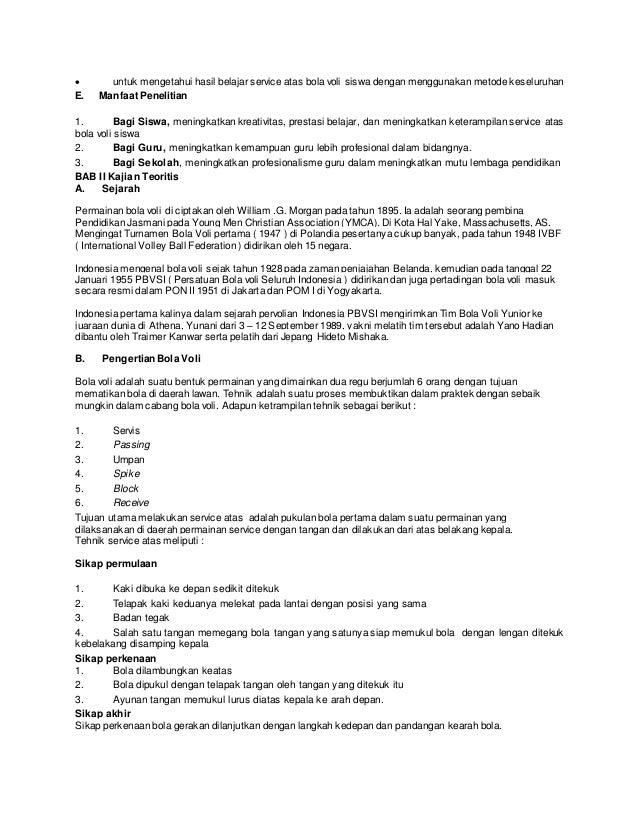 Berikut Ini Contoh Proposal Ptk Penjaskes Sd