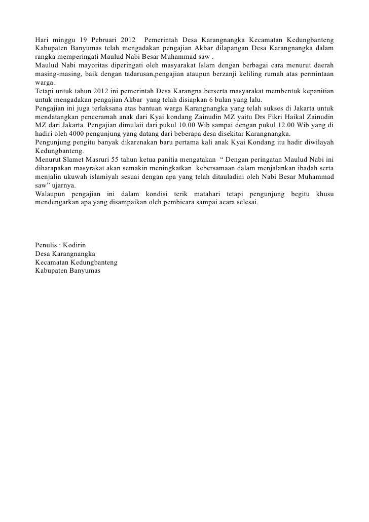 Hari minggu 19 Pebruari 2012 Pemerintah Desa Karangnangka Kecamatan KedungbantengKabupaten Banyumas telah mengadakan penga...