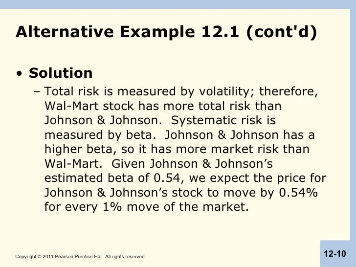 an estimation of systematic risk It provides a measure of your risk premium and a method of estimating the market's risk-expected varies directly with the level of systematic risk.