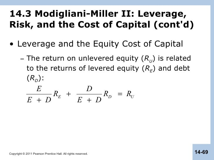 modigliani miller theorem proposition 3 Miller and modigliani's (1958) irrelevance theorem is one of the important and puzzling issues in modern corporate finance theory [1], which has challenged the traditional view[2], that an optimum leverage exists.