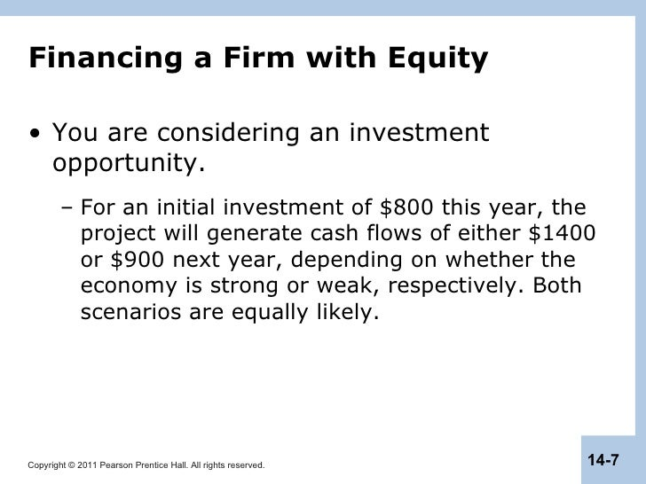 Capital structure in a perfect market