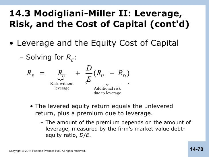 capital structure in a perfect market How can the answer be improved.
