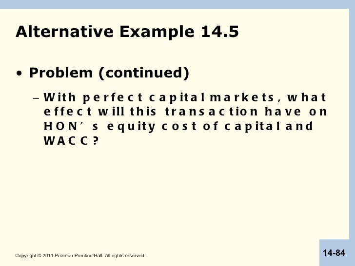 Capital market imperfections