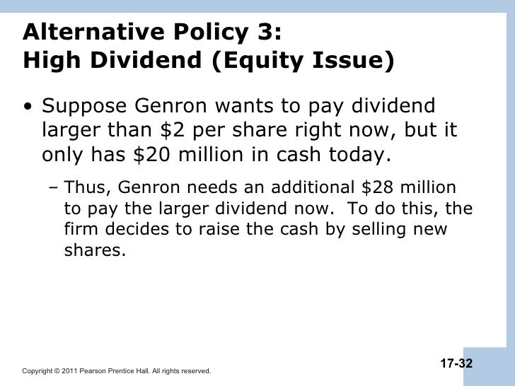 chapter 17 payout policy Slide 1 chapter 14 payout policy slide 2 learning goals lg1 understand cash payout procedures, their tax treatment, and the role of dividend reinvestment plans.