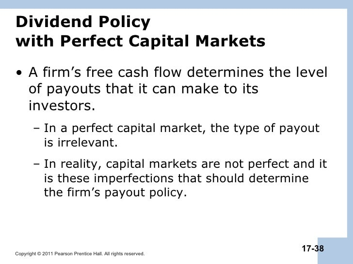 payout policy 2) stable dividend policy: here the payment of certain sum of money is regularly paid to the shareholders it is of three types: it is of three types: a) constant dividend per share: here reserve fund is created to pay fixed amount of dividend in the year when the earning of the company is not enough.