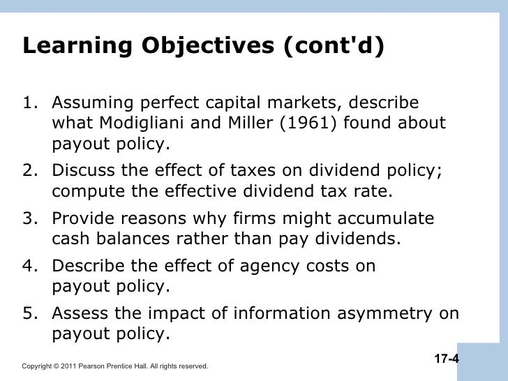 impact of taxation on dividend policy