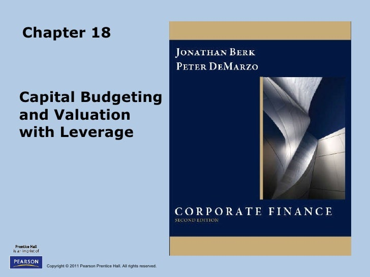 Chapter 18 Capital Budgeting and Valuation  with Leverage