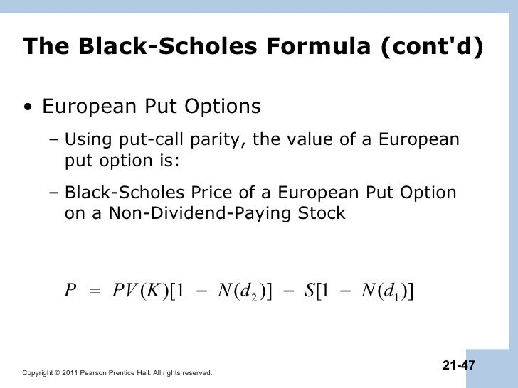 Binary option black scholes formula
