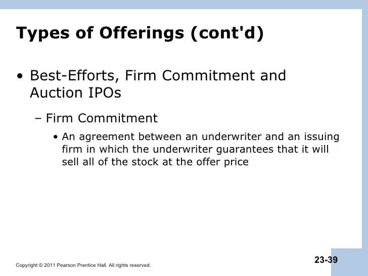 Firm commitment auction ipo