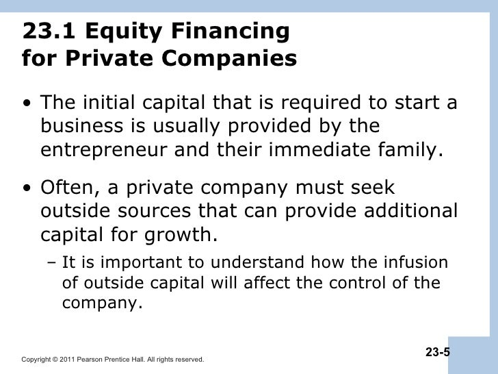 raising equity capital Sufficient capital is essential for starting, maintaining and growing a business in this lesson, you'll learn how a corporation can raise capital through equity and.