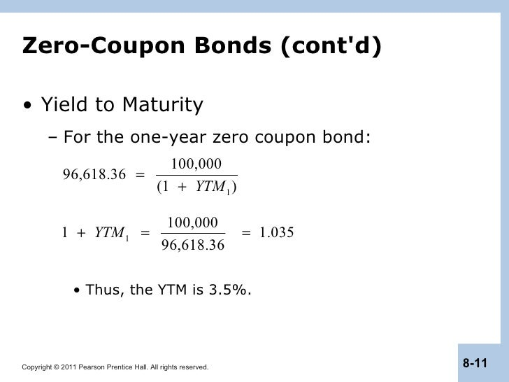 Yield to maturity of a bond