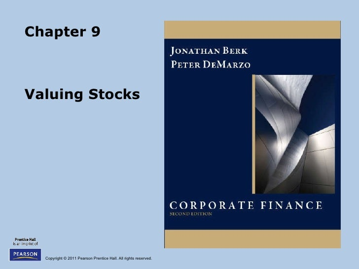 Chapter 9 Valuing Stocks