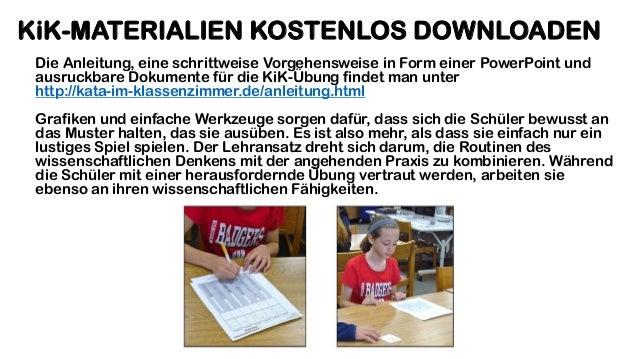 KiK-MATERIALIEN KOSTENLOS DOWNLOADEN Die Anleitung, eine schrittweise Vorgehensweise in Form einer PowerPoint und ausruckb...