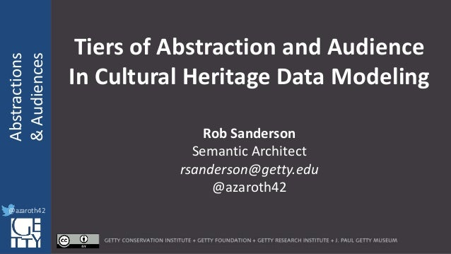@azaroth42 rsanderson @getty.edu IIIF:Interoperabilituy Abstractions &Audiences @azaroth42 Tiers of Abstraction and Audien...