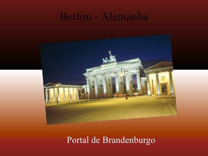 Berlim - Alemanha Portal de Brandenburgo