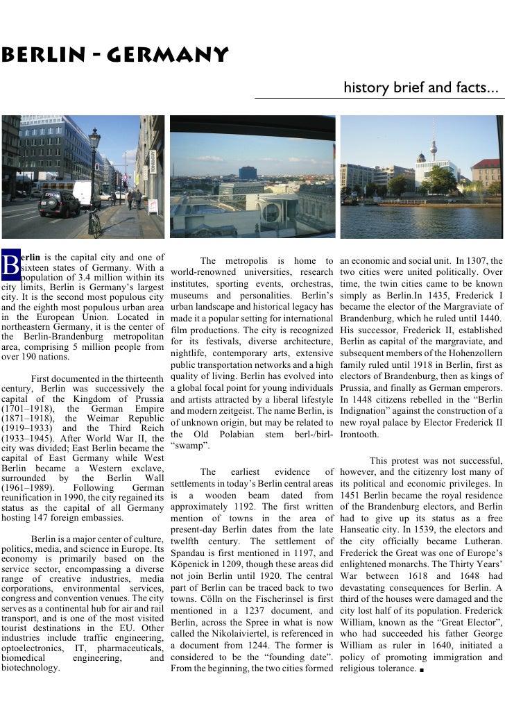 BERLIN - GERMANY                                                                                               history bri...